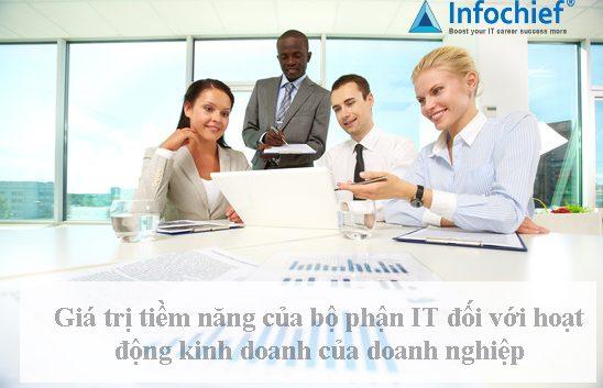 Giá trị tiềm năng của bộ phận IT đối với hoạt động kinh doanh của doanh nghiệp