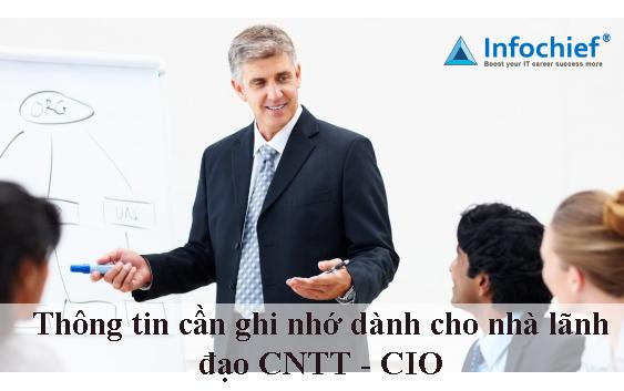 Thông tin cần ghi nhớ dành cho nhà lãnh đạo CNTT – CIO
